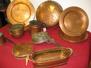 Vintage Copper Items - FROM PAST TIMES Antiques - 1178 Albert St Regina Regina Area image 1