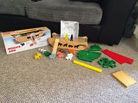 Wooden Noah's ark with box