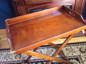 Solid wood Bombay & Co Butler Tray Table London Ontario image 2