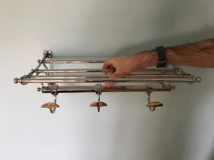 Stainless Steel Bathroom Shelving Unit with Hooks