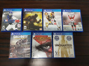 PS4 Games - Mint Condition