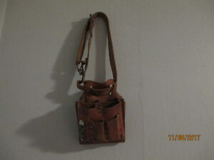 Electrician Tool Pouch with Leather Belt