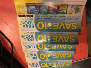 Pampers diapers/wipes coupons for trade with similac or enfamil