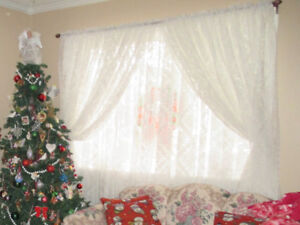 Lace Curtains 8 panels