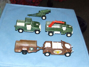 5 Piece Tootsietoy Military Vehicles - $23.00