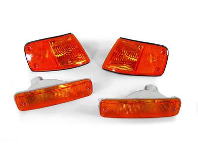 USA Spec JDM Amber Corner + Bumper Signal Lights For 1988-89 Honda CRX / CR-X