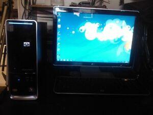 HP Slimline 3.4 Ghz Windows 7 Desktop with 19 inch Monitor