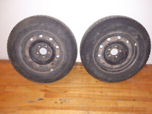 "215/70R15 15"" minivan Snow Tires Pair on 115mm 5 bolt Dodge Rims"