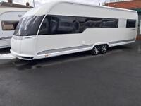 2013 HOBBY 720 PREMIUM TWIN AXLE FIXED BEDS 5/6 BERTH TOURING CARAVAN