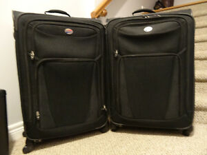 2 Large Black Suitcases American Tourister