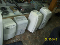 Lots of Dehumidifiers & Air conditioners