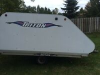 Triton enclosed doubled snowmobile trailer