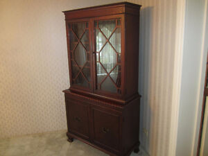 Antique China Cabinet/Hutch Glass Doors