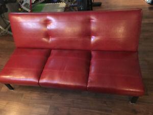 Leather futon