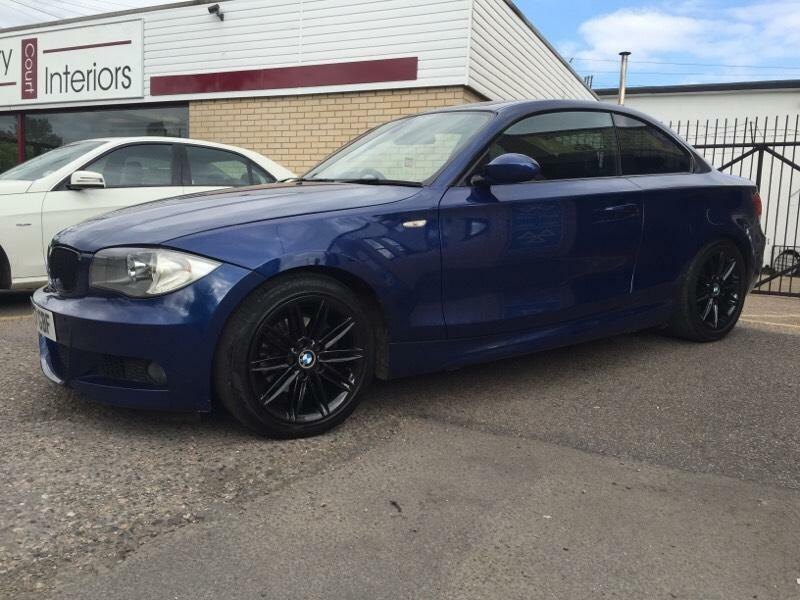 2008 57 bmw 120d m sport coupe blue 177bhp high spec not 118d 123d 330d in wickford essex. Black Bedroom Furniture Sets. Home Design Ideas