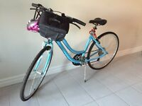 Almost new ladies hybrid bike & accessories $340