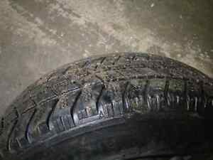 185 70 14 winter tires and steelies Cambridge Kitchener Area image 1