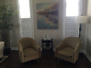 2 Upholstered Club Chairs