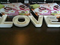 LOVE Candy Dishes / Plate Set - $10