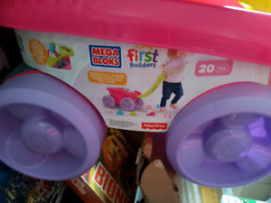 mega bloks toy carts for young kids