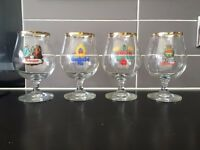 Set of Retro Branded Pilsner Glasses