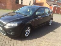 2009 FORD FOCUS ZETEC PANTHER BLACK 5 DOOR 1.6 Climate Pack, Low Mileage