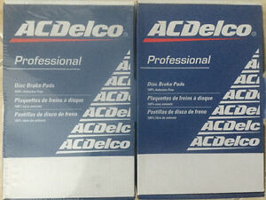 AC DELCO brake pad kit, Front & Rear, Professional Series