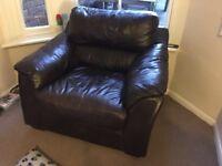 Single Leather Sofa