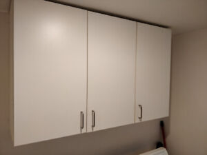 Cabinets, Shelves with wallmount and Laundry Sink with faucet