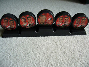 Team Canada Olympic Hockey Puck Collectible Set Kitchener / Waterloo Kitchener Area image 2