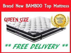 BRAND NEW Queen Size Bed Mattress BAMBOO FABRIC FREE DELIVERY New Farm Brisbane North East Preview