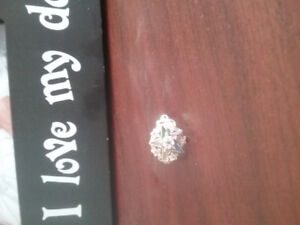 Ladie's Eastern star white gold ring size 9