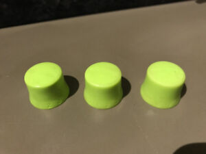 3 glow-in-the-dark rubber Electric Guitar volume/tone knobs
