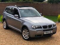 2005 55, BMW X3 3.0d auto M Sport 4X4 + 1 OWNER FROM NEW + PAN ROOF
