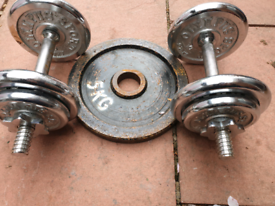 Olympus weights dumbels 4x2.75kg 4x 1.25 1x 5kg can deliver