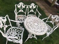 Vintage metal garden patio set with possible delivery
