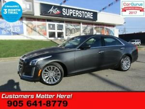 2014 Cadillac CTS Luxury  AWD (NEW TIRES) NAV CUE ROOF CAM BS LD