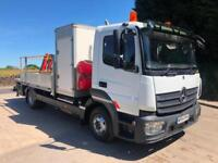 2014 64 Mercedes Atego 818 euro 6, dropside, crane, compressor, generator,