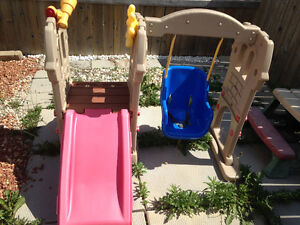 Little Tikes Kids Swing and Slide Outdoor Playset