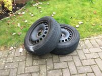 VW Golf / Passat Steel Wheels + Winter Tyres.