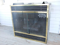 DOUBLE SIDED GAS/PROPANE SEE THRU FIREPLACE INSERT;