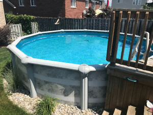 18ft round above ground pool
