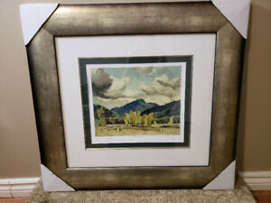 A.J Casson (Group of 7) Hills at Baptiste lake litho signed
