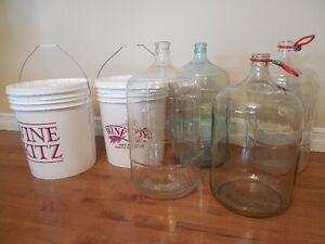 Carboys and Fermenter buckets
