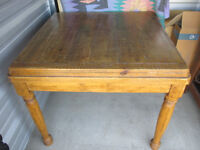 Solid 'distressed' wood dining/kitchen table for sale