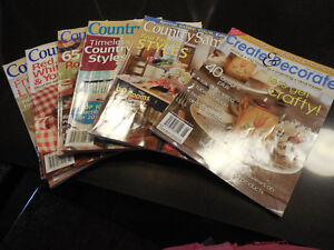 5 Country Sampler Magazines and 1 Create and Decorate Kingston Kingston Area image 2