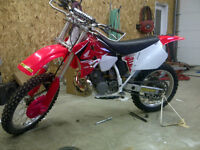 1995 CR250 rebuilt from the ground up.