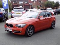 2014 64 BMW 1 SERIES 2.0 118D SPORT 5DR (140) * LEATHER SAT NAV * DIESEL