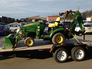For Hire, 25 hp Tractor with Backhoe