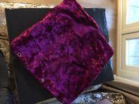 Crushed velvet cushion cases